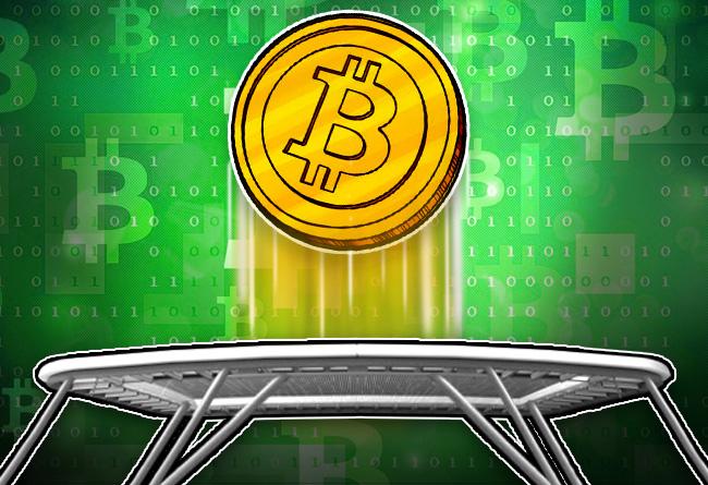 Bitcoin bounces back into the green