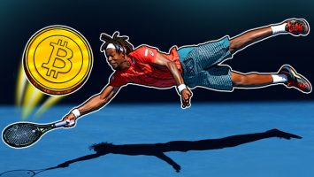 Gael-Monfils-diving-to-hit-a-Bitcoin
