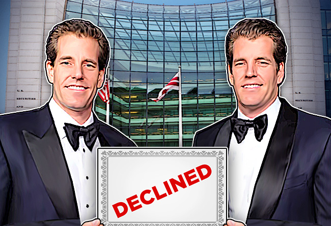 Winklevoss Twins Bitcoin ETF Declined BY SEC for Second Time