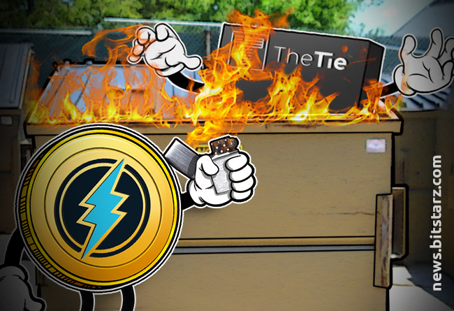 Electroneum-token-setting-the-TIE-logo-on-fire