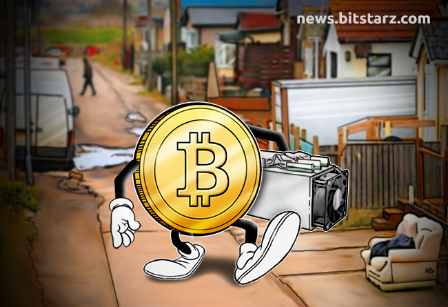 Bitcoin-walking-down-source-street-with-an-ASIC-mining-rig