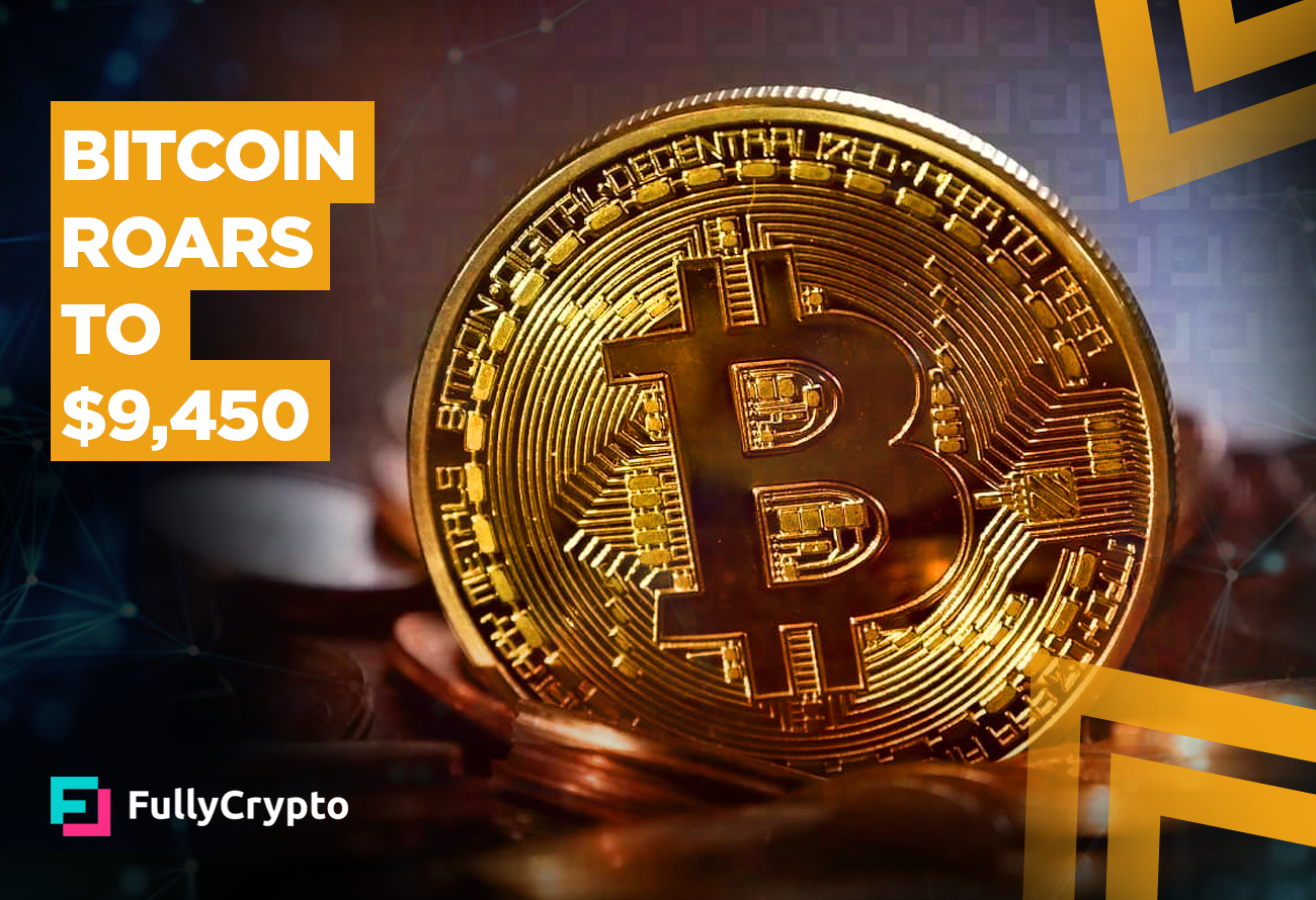 Bitcoin-Roars-to-$9,450