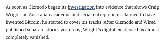 Craig Wright Gizmodo