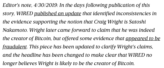 Craig Wright Wired