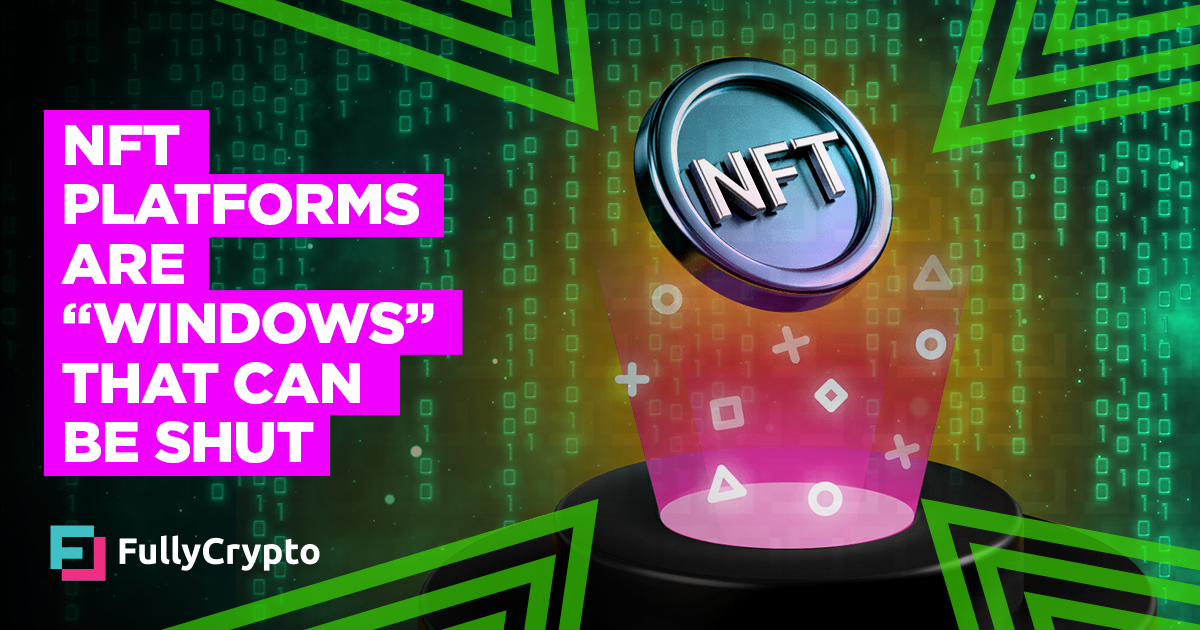 "NFT Platforms are ""Windows"" That Can be Shut, Says OpenSea thumbnail"