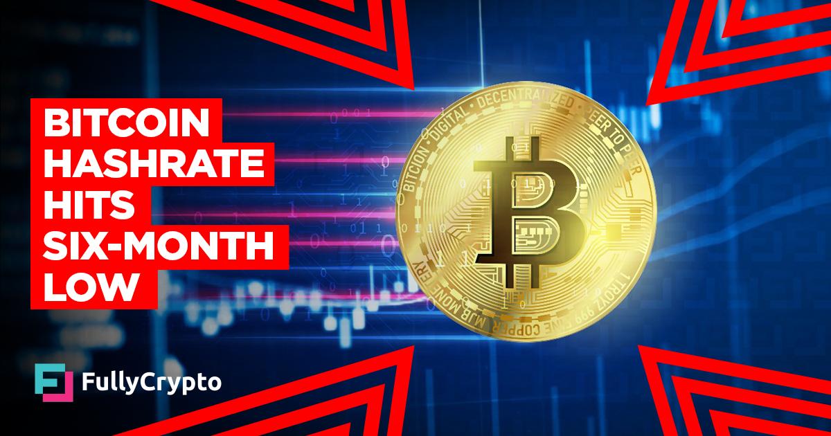 <p>Bitcoin Hashrate Hits Six-Month Low thumbnail